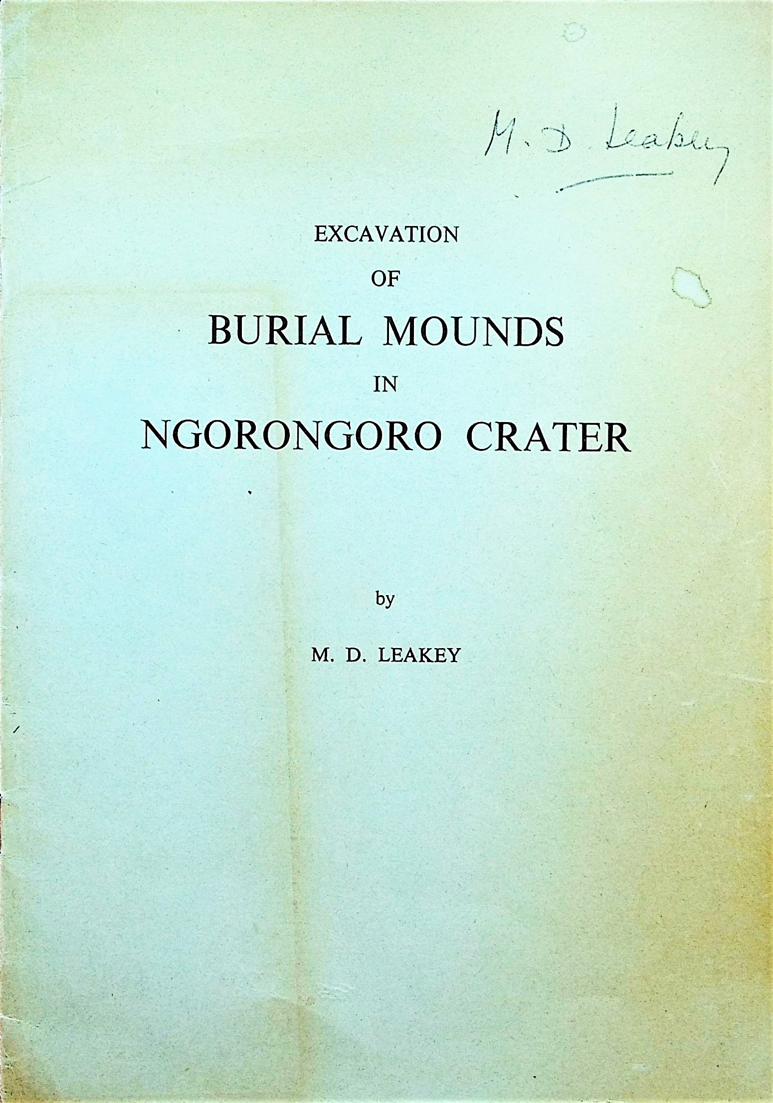 Image for Excavation of burial mounds in Ngorongoro Crater