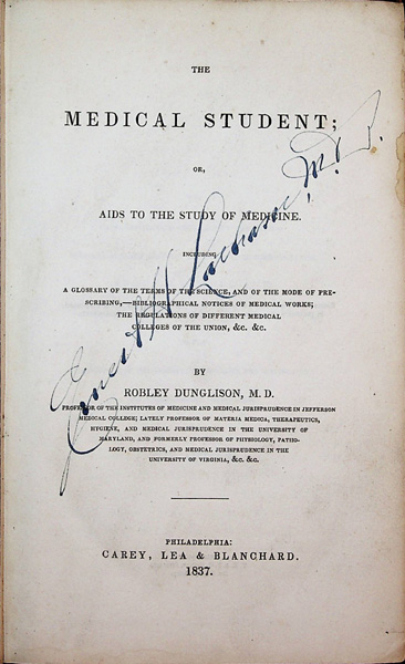 Image for The Medical Student or, Aids to the Study of Medicine