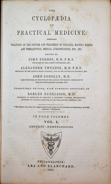 Image for The Cyclopaedia of Practical Medicine; comprising treatises on the nature and treatment of diseases, materia medica and therapeutics, medical jurisprudence, etc., etc.