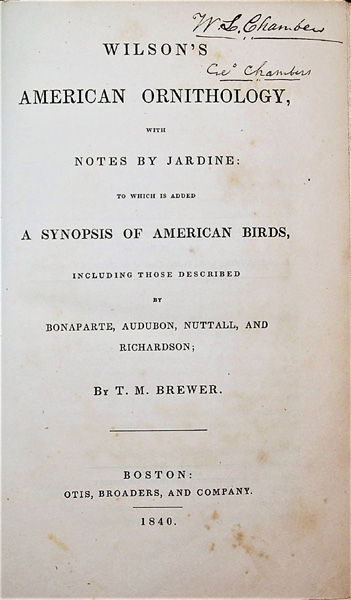 Image for Wilson's American Ornithology with Additions Including the Birds Described by Audubon, Bonaparte, Nuttall, and Richardson