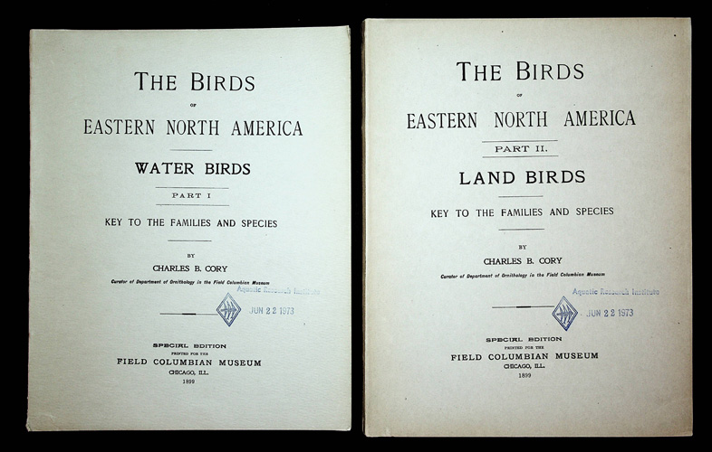 Image for The Birds of Eastern North America. Part I. Water Birds; Part II. Land Birds