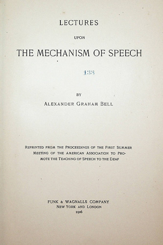 Image for Lectures upon the Mechanism of Speech