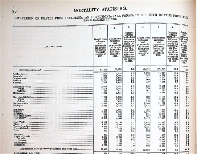 Image for Mortality Statistics 1918