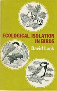 Image for Ecological Isolation in Birds