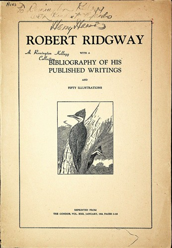 Image for Robert Ridgway with a Bibliography of His Published Writings