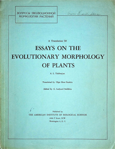 Image for Essays on the Evolutionary Morphology of Plants
