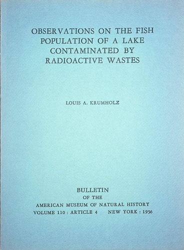 Image for Observations on the fish population of a lake contaminated by radioactive wastes