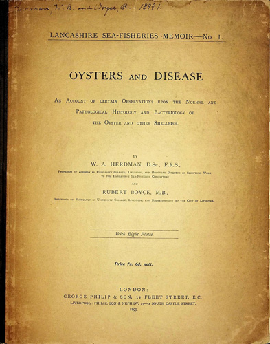 Image for Oysters and Disease. An account of certain Observations upon the Normal and Pathological Histology and Bacteriology of the Oyster and other Shellfish