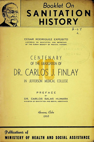 Image for Centenary of the Graduation of Dr. Carlos J. Finlay in Jefferson Medical College