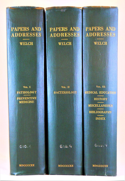 Image for Papers and Addresses by William Henry Welch, in Three Volumes